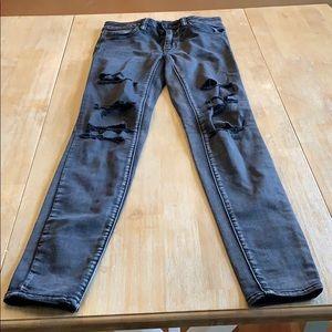 Super stretch high rise skinny jean